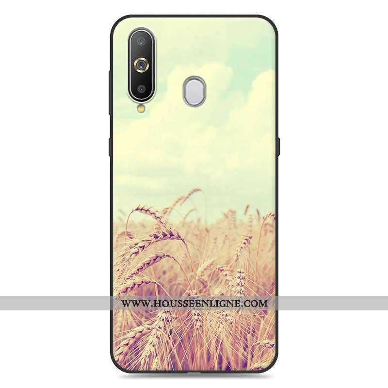 Housse Samsung Galaxy A8s Tendance Fluide Doux Jaune Coque Téléphone Portable Dessin Animé Étoile