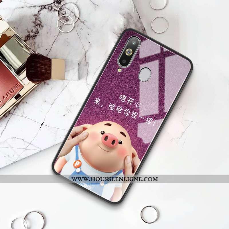 Housse Samsung Galaxy A8s Verre Personnalité Étoile Tout Compris Amoureux Difficile Coque Violet