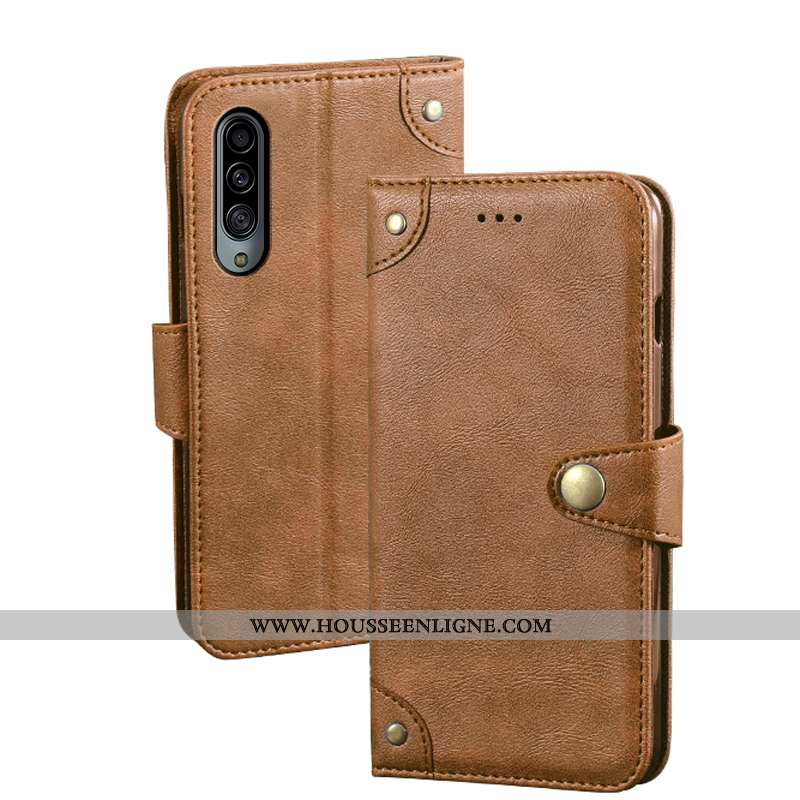 Housse Samsung Galaxy A90 5g Portefeuille Cuir Étui Protection Coque Kaki Téléphone Portable Khaki