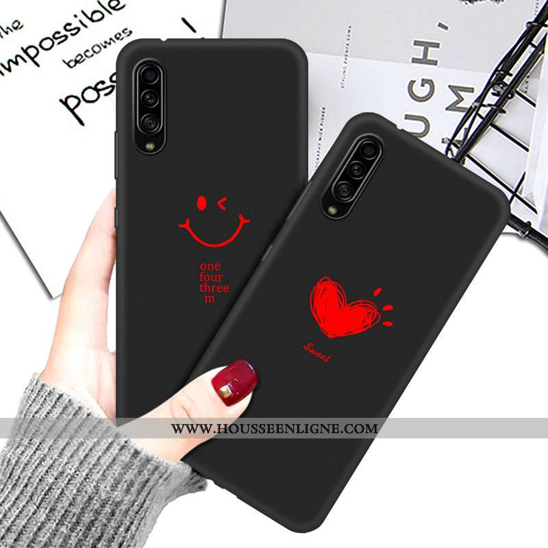 Housse Samsung Galaxy A90 5g Protection Dessin Animé Téléphone Portable Noir Silicone Étui Tout Comp