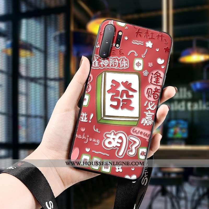 Housse Samsung Galaxy Note 10+ Charmant Fluide Doux Rouge Dimensionnel Chanceux Étui Coque