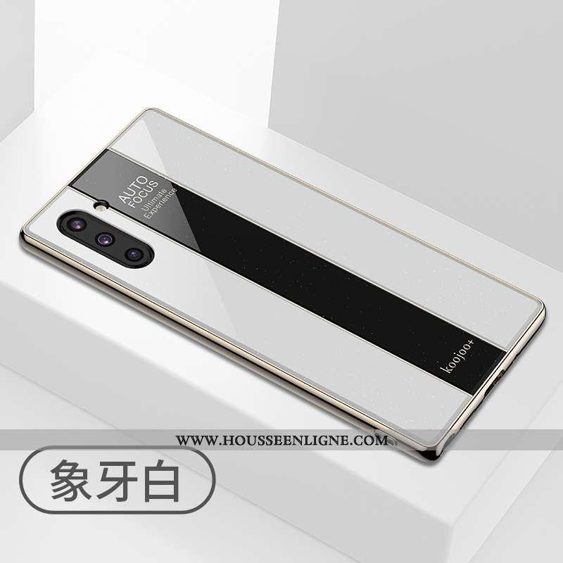 Housse Samsung Galaxy Note 10 Légère Protection Luxe Étui Nouveau Verre Coque Blanche