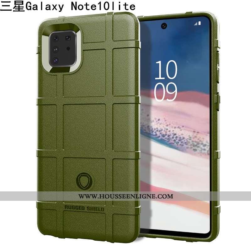 Housse Samsung Galaxy Note 10 Lite Créatif Fluide Doux Trois Défenses Coque Protection Vert Étui Ver