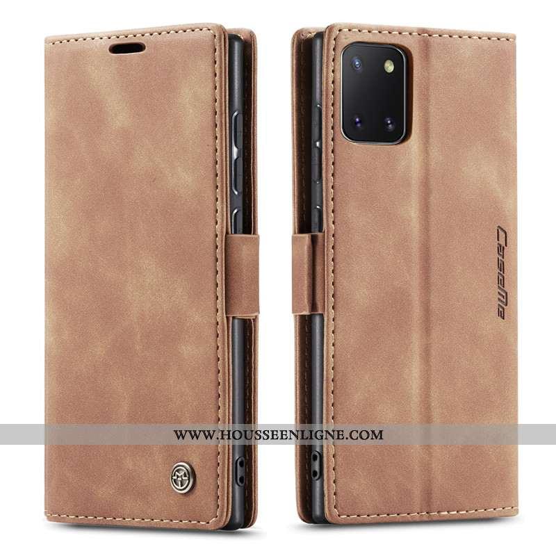 Housse Samsung Galaxy Note 10 Lite Cuir Créatif Kaki Étui Incassable Coque Étoile Khaki