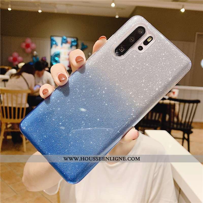 Housse Samsung Galaxy Note 10+ Protection Fluide Doux Étoile Mode Coloré Coque Silicone Bleu