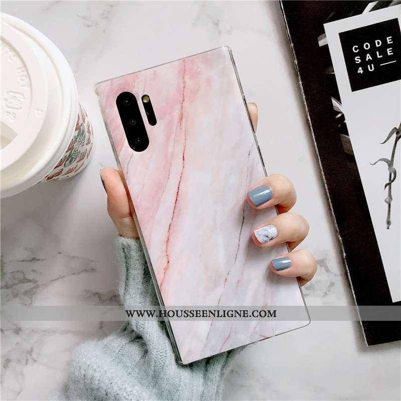 Housse Samsung Galaxy Note 10+ Ultra Tendance Téléphone Portable Vent Incassable Coque Rose