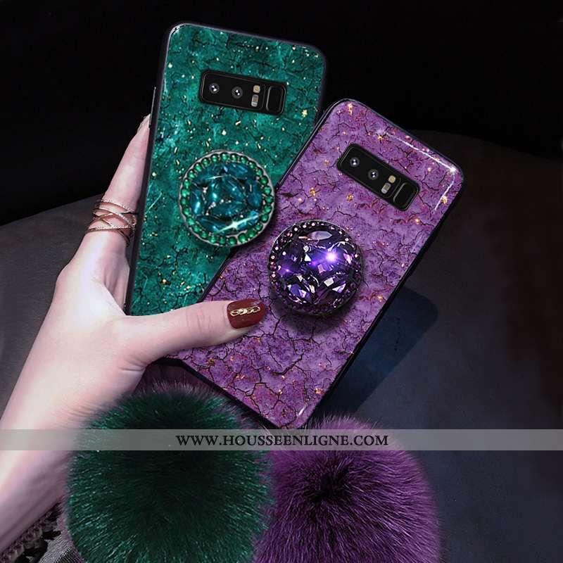 Housse Samsung Galaxy Note 8 Créatif Ultra Téléphone Portable Net Rouge Délavé En Daim Simple Incass