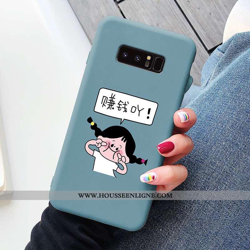 Housse Samsung Galaxy Note 8 Dessin Animé Charmant Étui Net Rouge Personnalité Protection Légère Ble