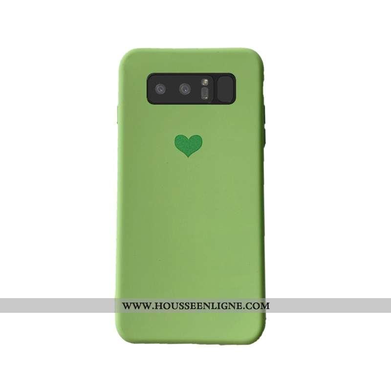Housse Samsung Galaxy Note 8 Protection Délavé En Daim Mode Ornements Suspendus Étoile Étui Vert Ver