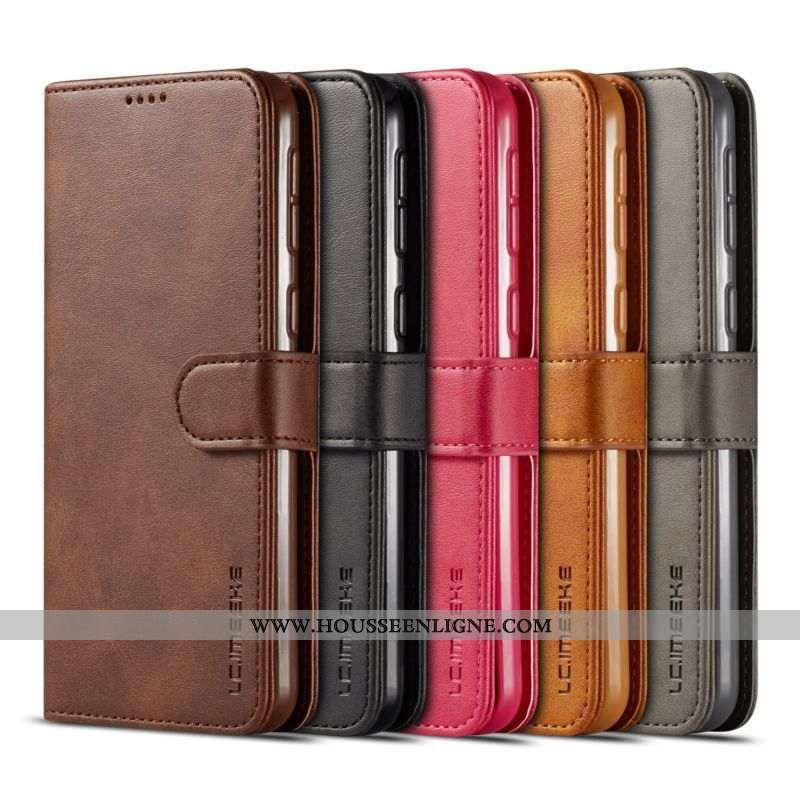 Housse Samsung Galaxy Note 8 Tendance Cuir Étui Tout Compris Incassable Silicone Marron