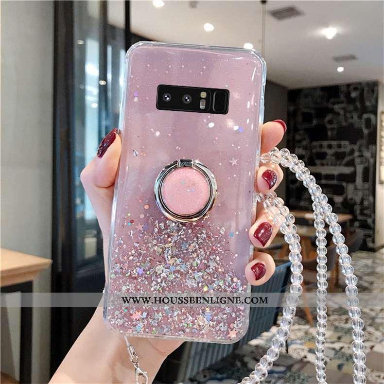 Housse Samsung Galaxy Note 8 Tendance Protection Tout Compris Cristal Étui Coque Incruster Strass Ro