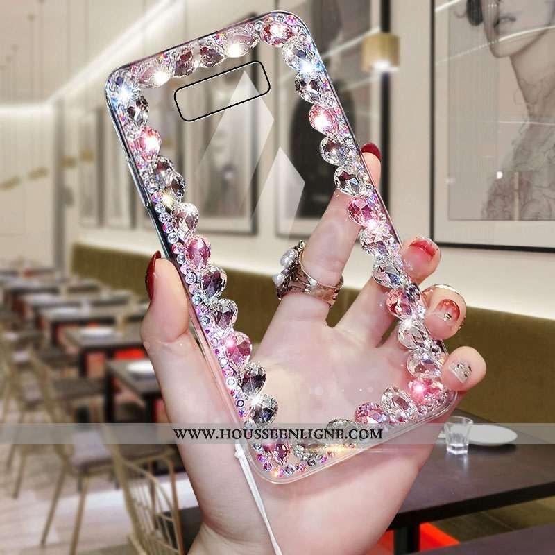 Housse Samsung Galaxy Note 8 Tendance Transparent Incassable Étoile Difficile Strass Nouveau Rose