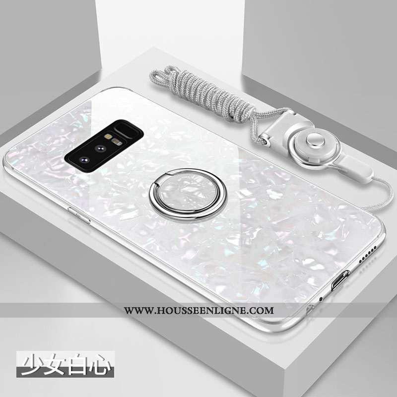 Housse Samsung Galaxy Note 8 Verre Personnalité Net Rouge Difficile Tout Compris Incassable Tendance