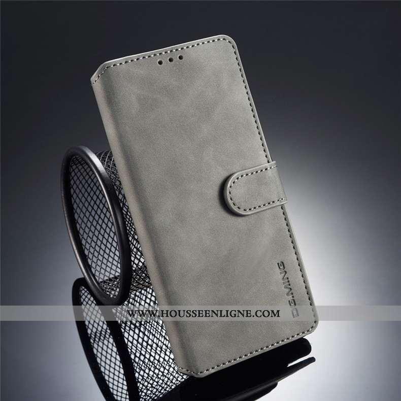 Housse Samsung Galaxy Note 9 Cuir Fluide Doux Téléphone Portable Étoile Gris Étui Coque