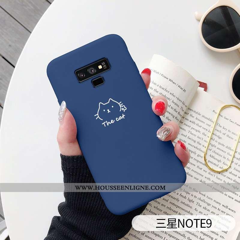 Housse Samsung Galaxy Note 9 Fluide Doux Silicone Coque Net Rouge Dessin Animé Mode Bleu Marin Bleu