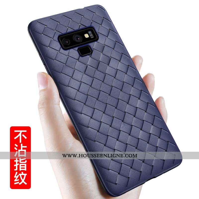Housse Samsung Galaxy Note 9 Modèle Fleurie Fluide Doux Net Rouge Coque Téléphone Portable Respirant