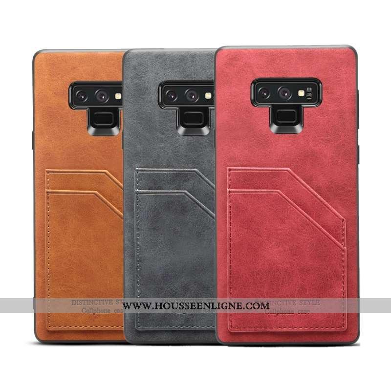 Housse Samsung Galaxy Note 9 Protection Légère Légères Silicone Coque Étui Bordure Rouge