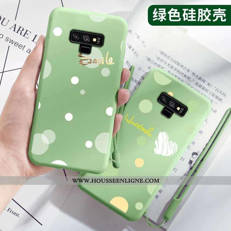 Housse Samsung Galaxy Note 9 Tendance Légère Tout Compris Personnalité Légères Mode Fluide Doux Vert