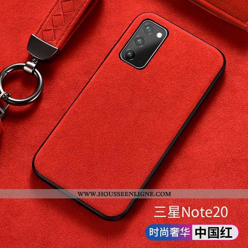Housse Samsung Galaxy Note20 Luxe Silicone Incassable Coque Tout Compris Étui Étoile Rouge