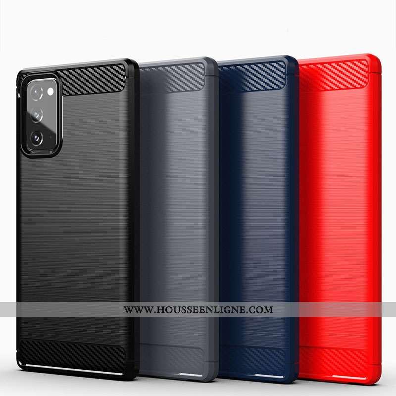 Housse Samsung Galaxy Note20 Silicone Protection Noir Étui Coque Téléphone Portable Étoile
