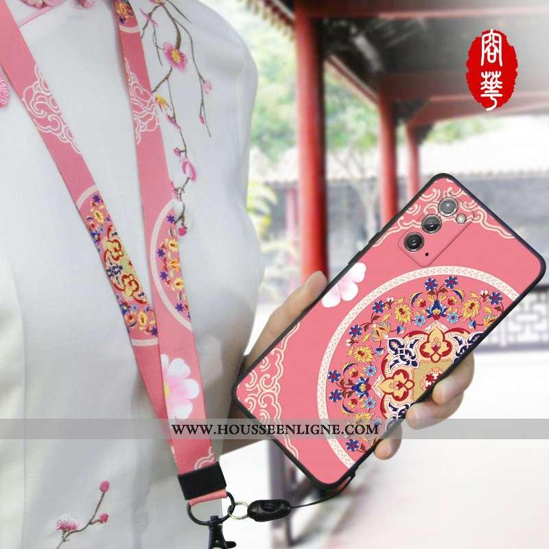 Housse Samsung Galaxy Note20 Tendance Légère Incassable Étoile Personnalité Délavé En Daim Téléphone