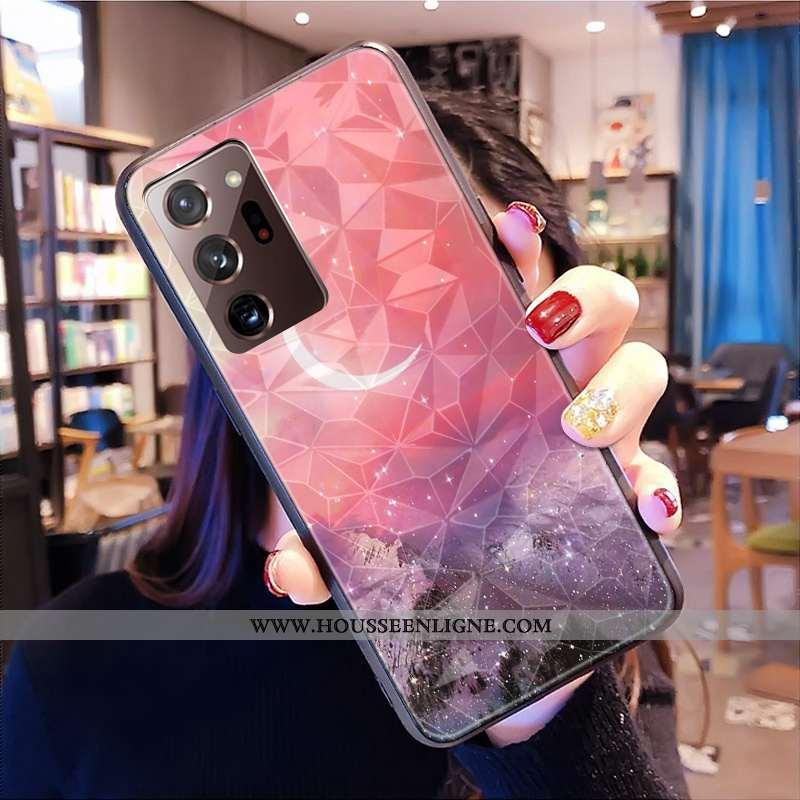 Housse Samsung Galaxy Note20 Ultra Coque Amoureux Téléphone Portable Net Rouge Personnalisé Losange