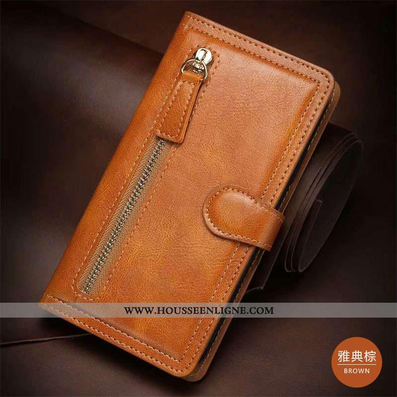 Housse Samsung Galaxy Note20 Ultra Cuir Véritable Étoile Téléphone Portable Coque Étui Marron