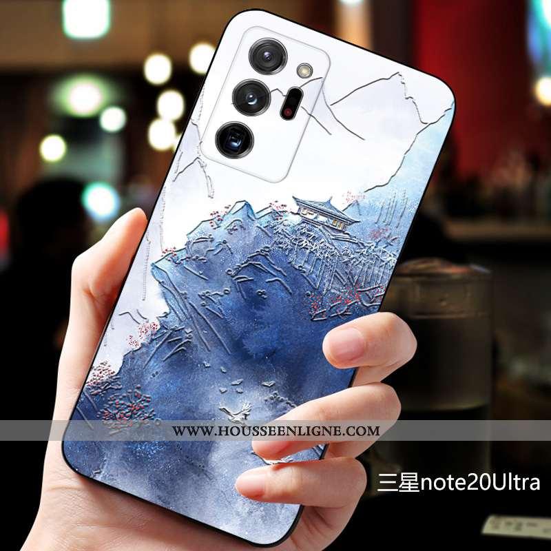 Housse Samsung Galaxy Note20 Ultra Fluide Doux Silicone Incassable Net Rouge Bleu Personnalisé Tout