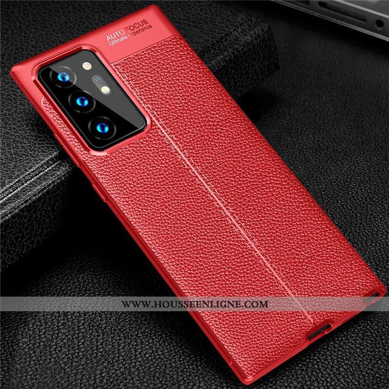 Housse Samsung Galaxy Note20 Ultra Personnalité Cuir Téléphone Portable Modèle Fleurie Étoile Rouge