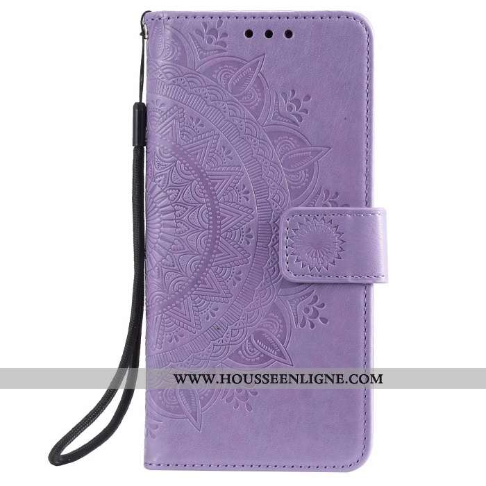 Housse Samsung Galaxy Note20 Ultra Protection Cuir Violet Étoile Coque Carte
