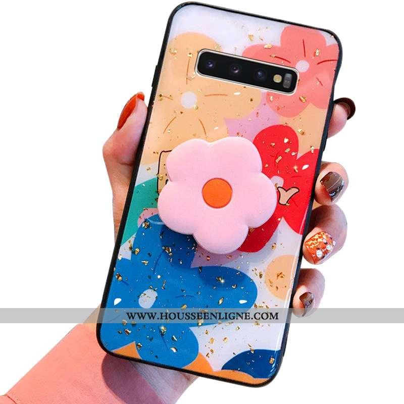 Housse Samsung Galaxy S10+ Créatif Charmant Étoile Fluide Doux Personnalité Étui Tout Compris Rose