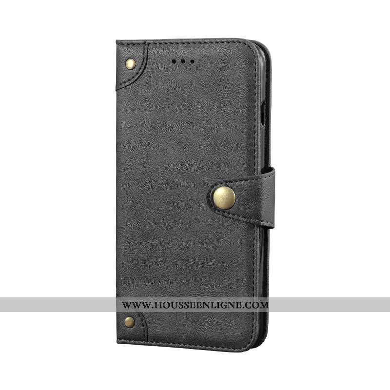 Housse Samsung Galaxy S10+ Cuir Protection Téléphone Portable Carte Portefeuille Étui Noir