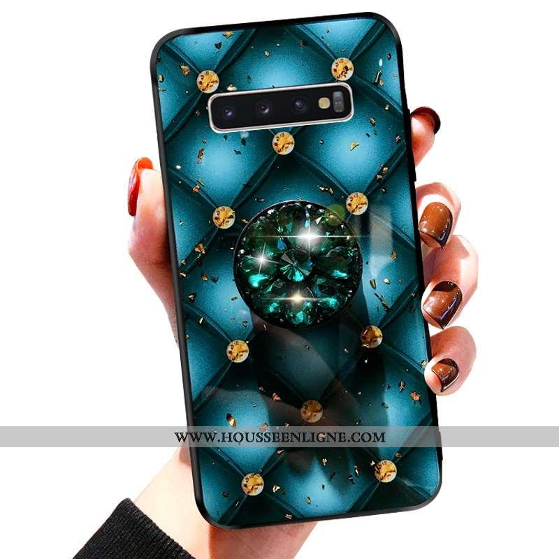 Housse Samsung Galaxy S10+ Fluide Doux Silicone Bleu Étui 2020 Légères Créatif