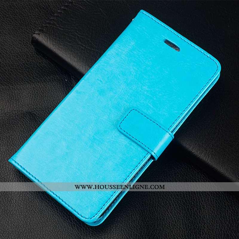 Housse Samsung Galaxy S10 Lite Cuir Téléphone Portable Simple Jeunesse Couleur Unie Étui Bleu