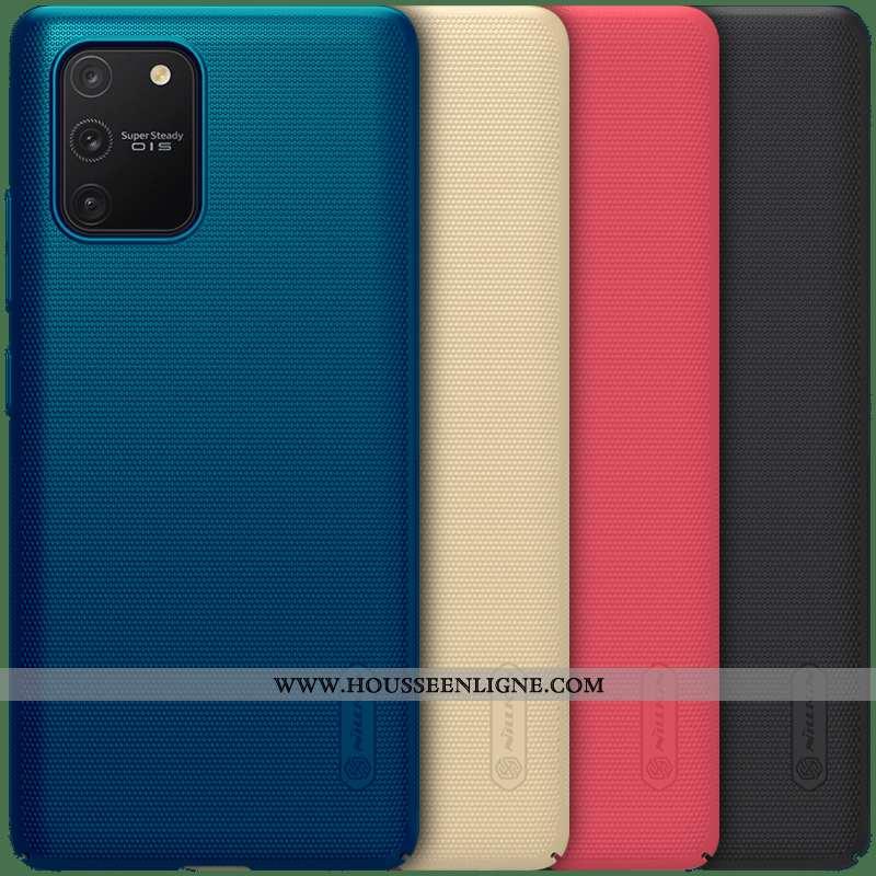 Housse Samsung Galaxy S10 Lite Délavé En Daim Ultra Bleu Légère Étoile Coque Étui