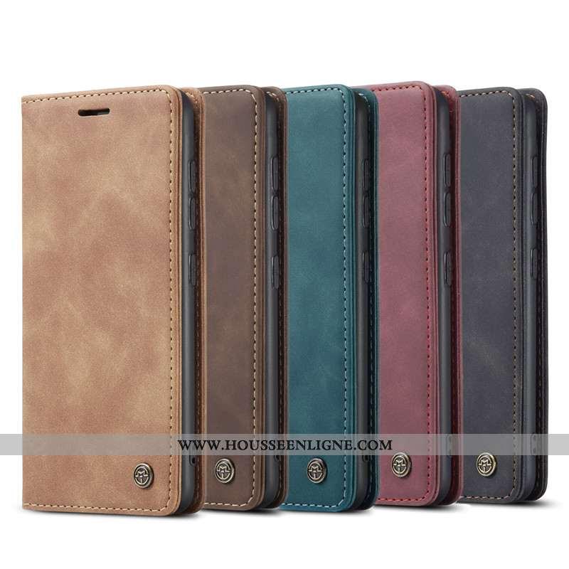 Housse Samsung Galaxy S10 Lite Portefeuille Cuir Téléphone Portable Étui Kaki Coque Carte Khaki