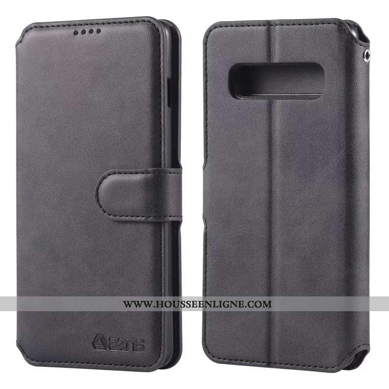 Housse Samsung Galaxy S10+ Protection Cuir Carte Tout Compris Téléphone Portable Fluide Doux Coque N