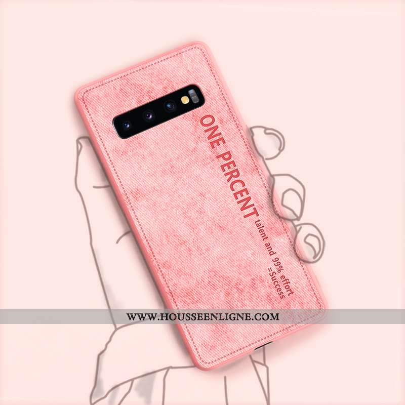 Housse Samsung Galaxy S10+ Protection Ultra Étoile Rose Étui Tout Compris Cuir