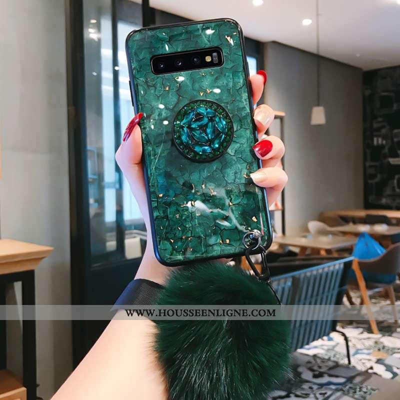 Housse Samsung Galaxy S10 Silicone Mode Tout Compris Tendance Vert Créatif Étoile Verte