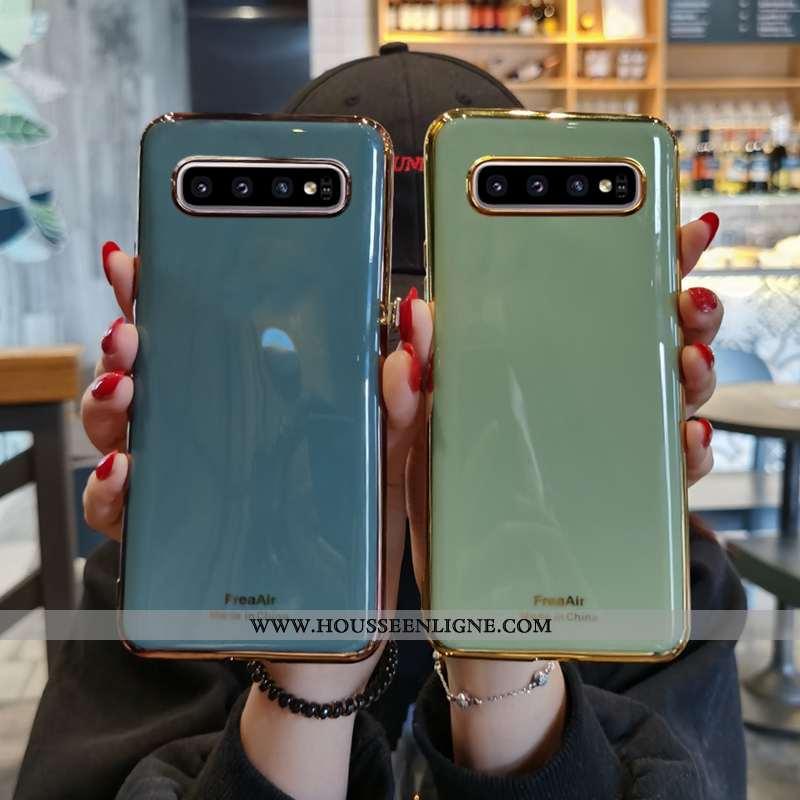 Housse Samsung Galaxy S10+ Ultra Tendance Nouveau Étui Silicone Coque Protection Verte