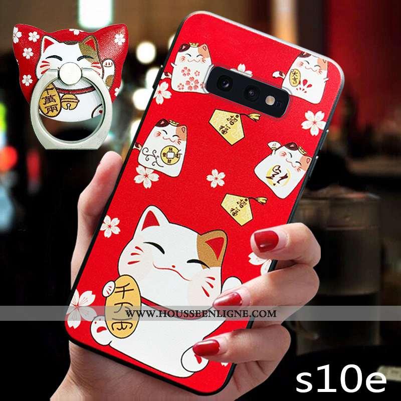 Housse Samsung Galaxy S10e Dessin Animé Charmant Chat Téléphone Portable Tout Compris Nouveau Incass