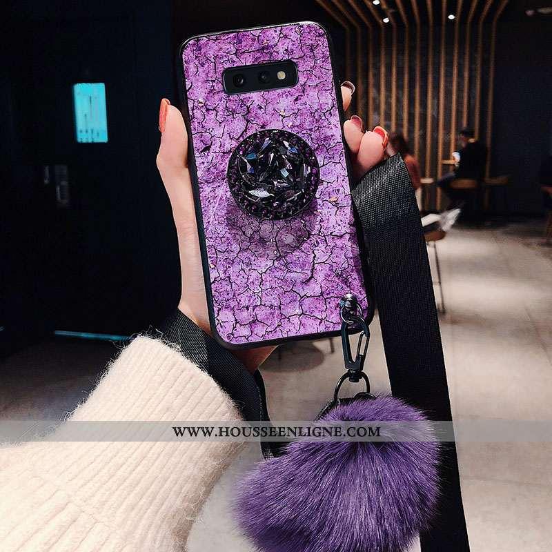 Housse Samsung Galaxy S10e Ornements Suspendus Ultra Silicone Tendance Protection Étui Incassable Vi