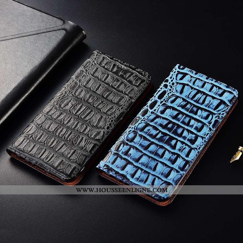 Housse Samsung Galaxy S10e Protection Cuir Véritable Nouveau Fluide Doux Étui Téléphone Portable Ble