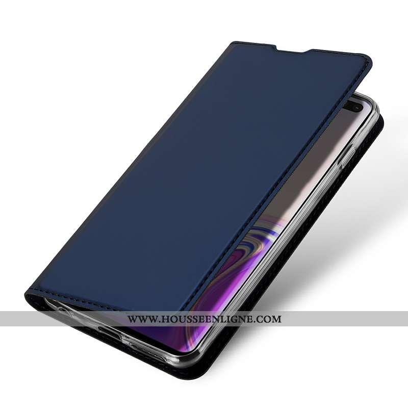 Housse Samsung Galaxy S10e Protection Portefeuille Tout Compris Téléphone Portable Business Bleu Mar