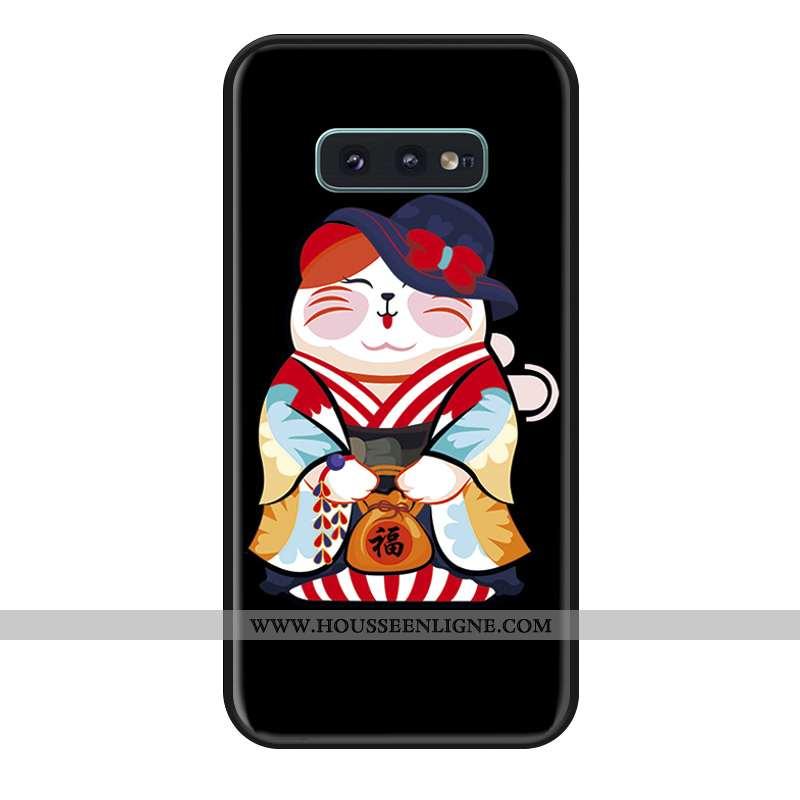 Housse Samsung Galaxy S10e Silicone Coque Tout Compris Incassable Étoile Noir Téléphone Portable