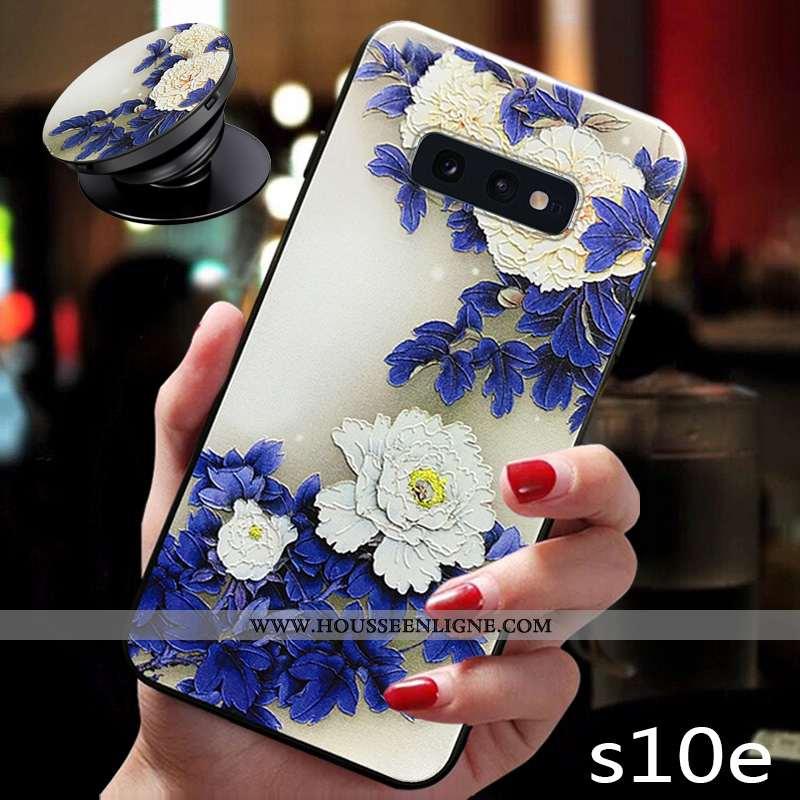 Housse Samsung Galaxy S10e Silicone Protection Net Rouge Nouveau Incassable Étoile Bleu