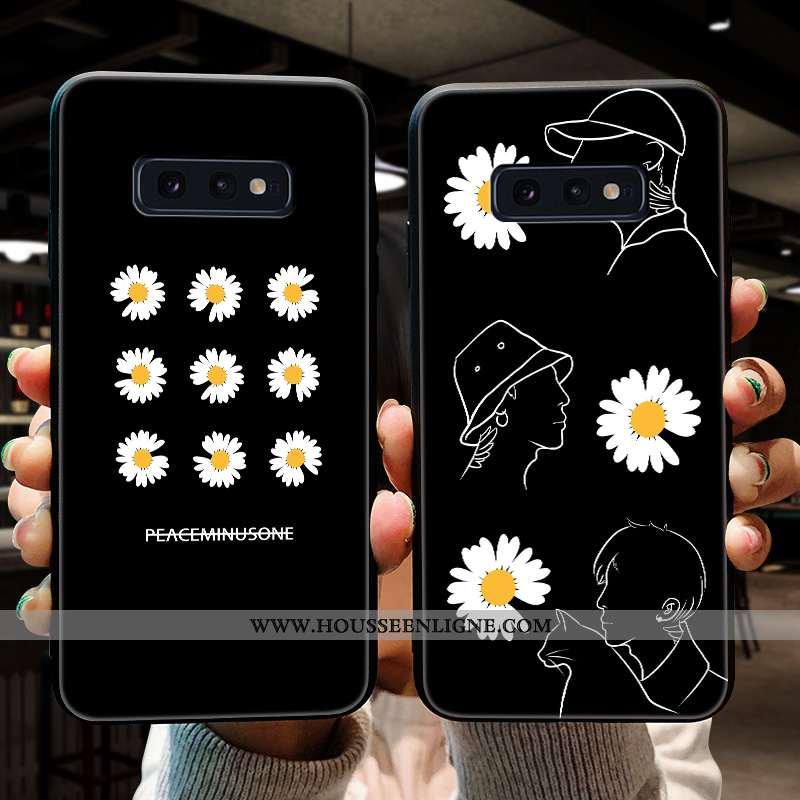 Housse Samsung Galaxy S10e Silicone Protection Tendance Étoile Coque Nouveau Fluide Doux Noir