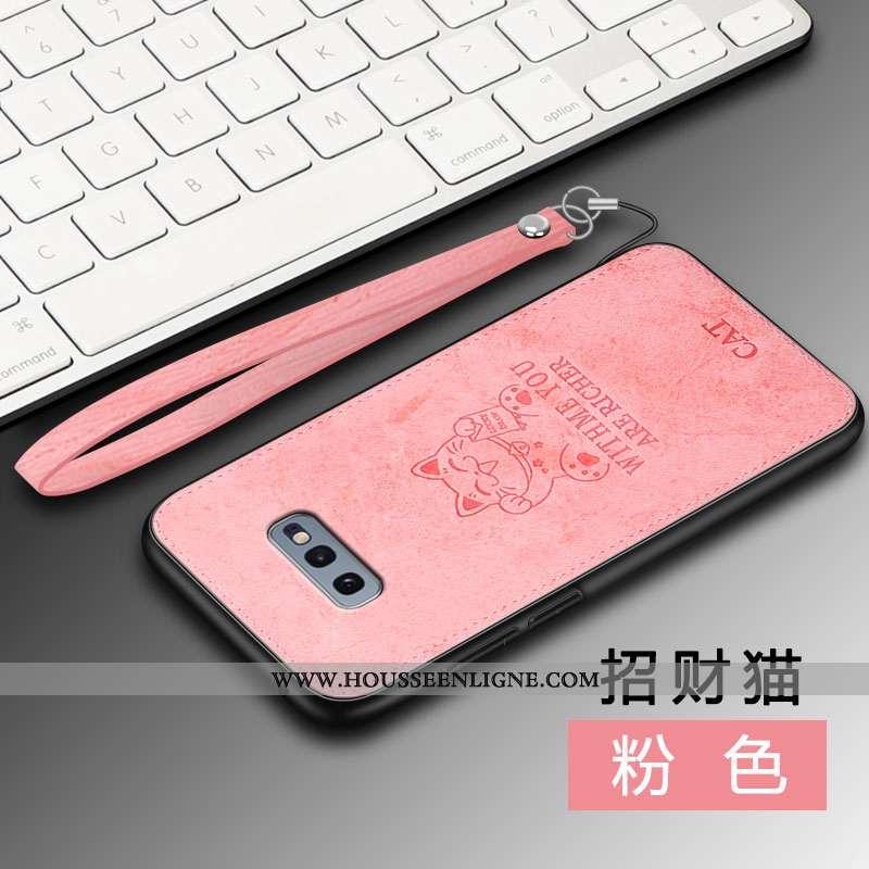 Housse Samsung Galaxy S10e Tendance Légère Modèle Fleurie Étoile À Bord Protection Elk Rose
