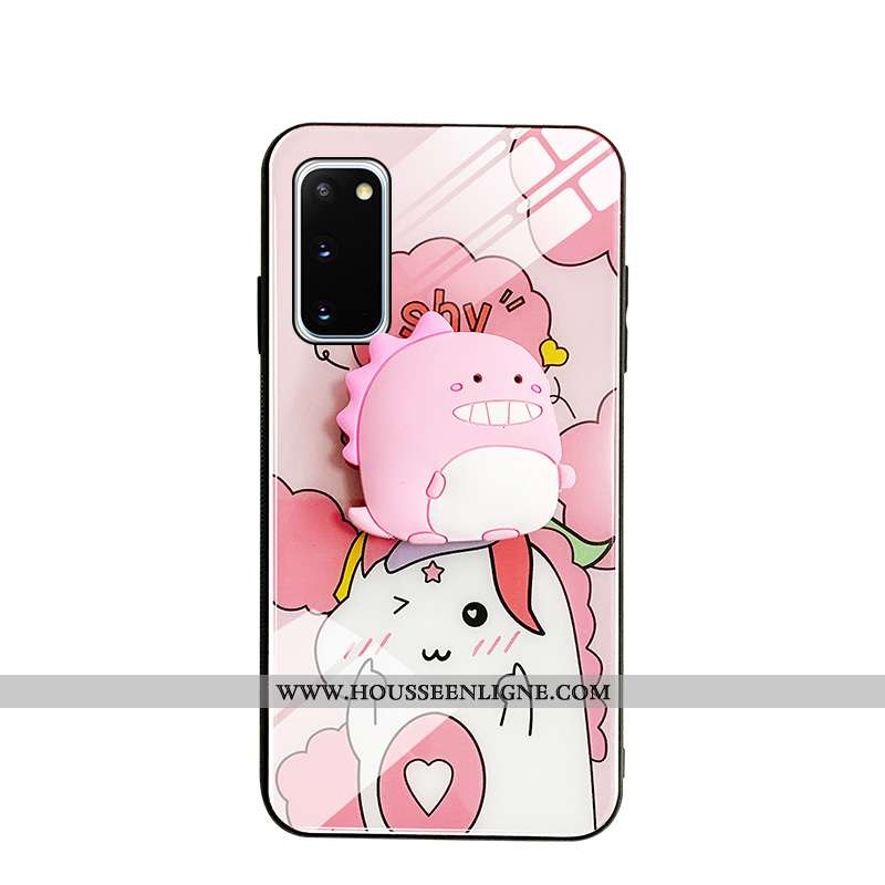 Housse Samsung Galaxy S20 Charmant Protection Petit Rose Amoureux Dragon Coque