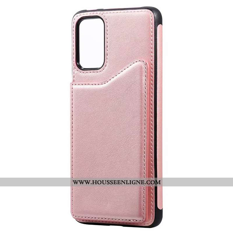 Housse Samsung Galaxy S20 Cuir Étui Téléphone Portable Étoile Coque Carte Rose